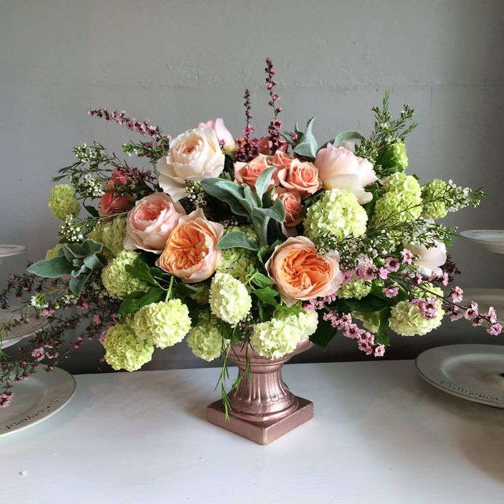 268 best images about compote pedestal urn arrangements on for Garden arrangement