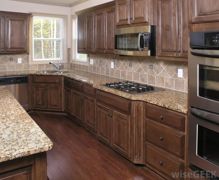 Kitchens With Brown Cabinets