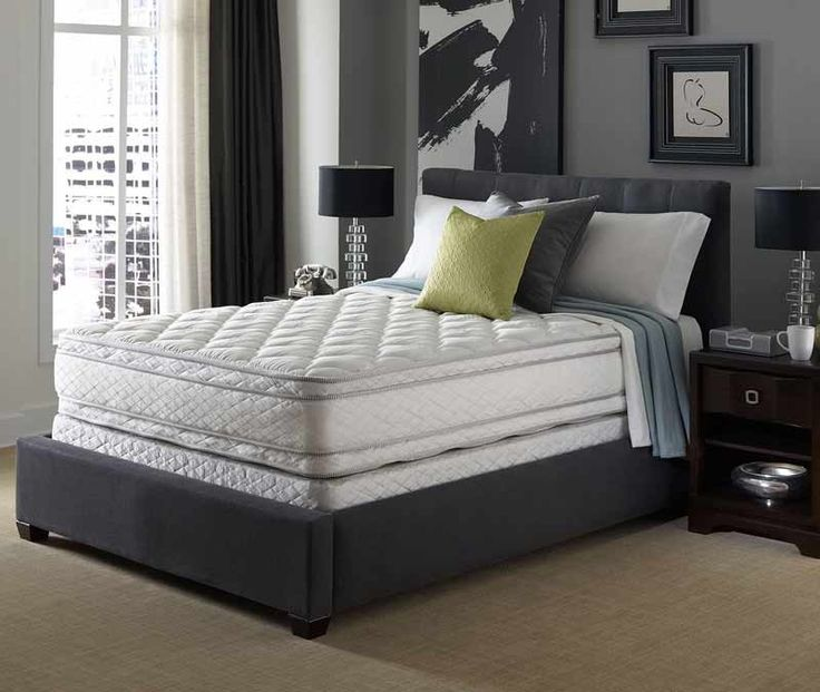 Serta Mattress - Presidential Suite II Hotel Sapphire Suite Double Sided Eurotop Queen Size Mattress