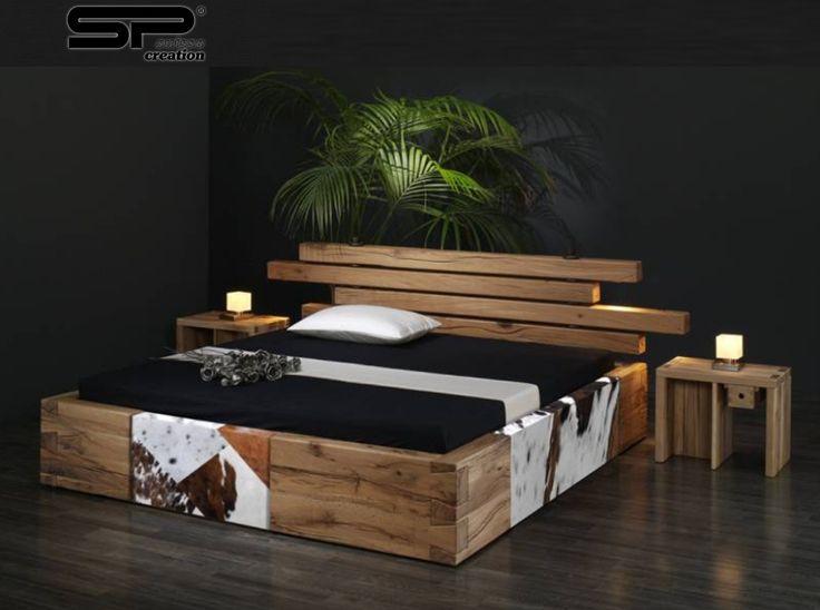 25 beste idee n over houten bedden op pinterest boeren bed houten slaapkamer en slaapkamers - Massief houten platform bed ...