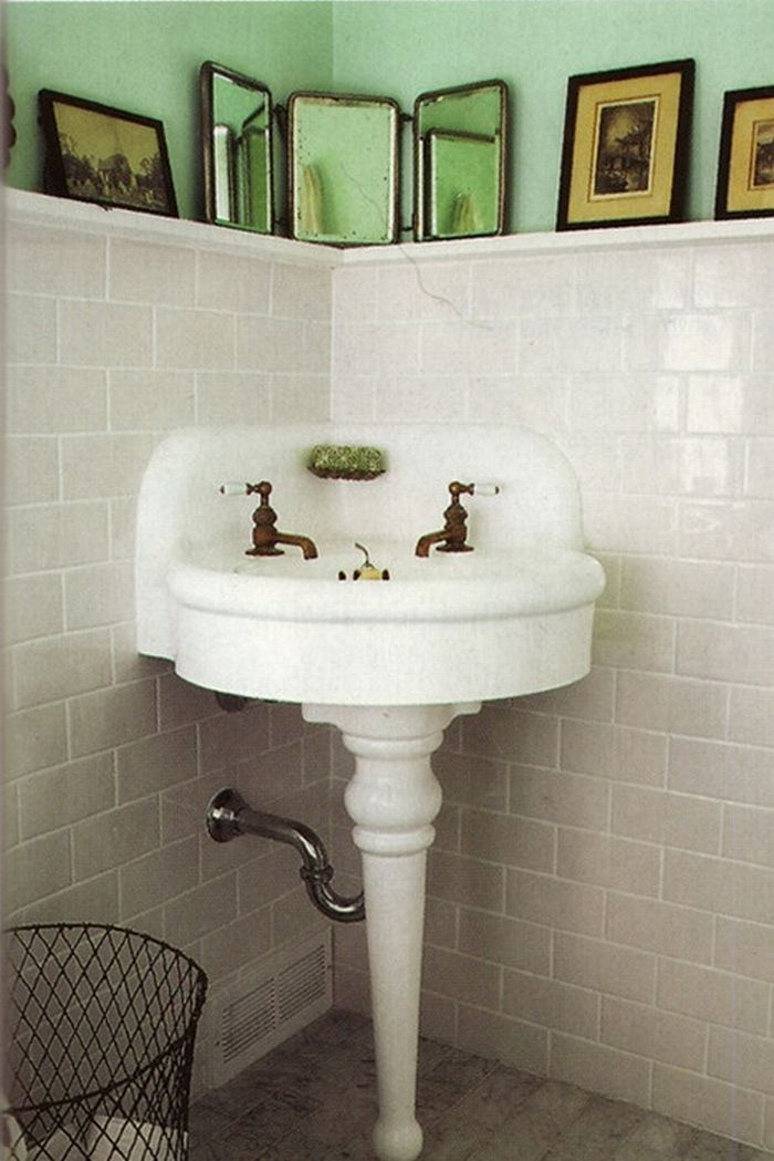 Cute Corner Sink Mirror Solution Guest Bathroom Sinks