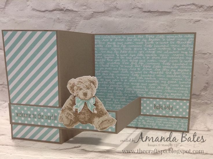 The Craft Spa - Stampin' Up! UK independent demonstrator : Baby Bear in Blue