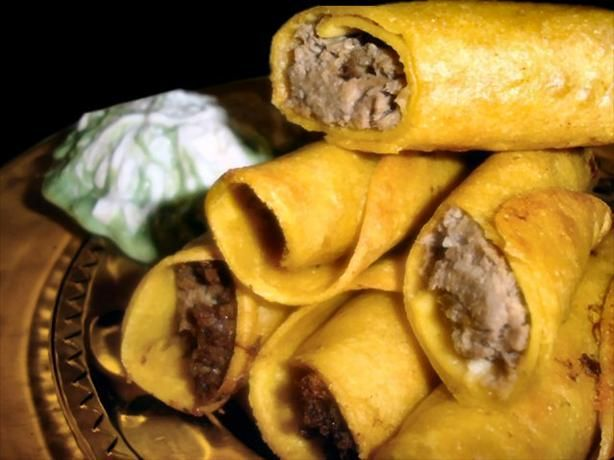 Beef Taquitos (Oamc) from Food.com: I don't know about you guys but I cheat sometimes and buy taquitos from the freezer section of the grocery. I knew there had to be a way to make me feel less guilty so thus became the taquito recipe. I think you could do this with chicken also, but have yet to do it yet.