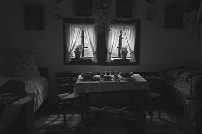 bwstock.photography - photo | free download black and white photos  //  #traditional #Ruthenian #room