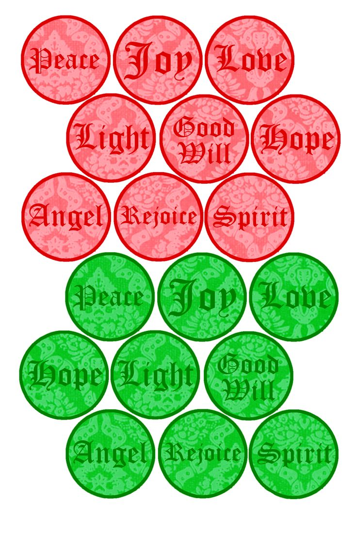 """Free Bottle cap Images - Holiday Words, Formatted for printing on 4"""" x 6"""" photo paper"""
