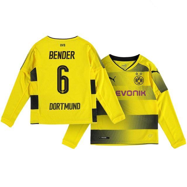 Kids Borussia Dortmund Home Kit 17-18 LS bender