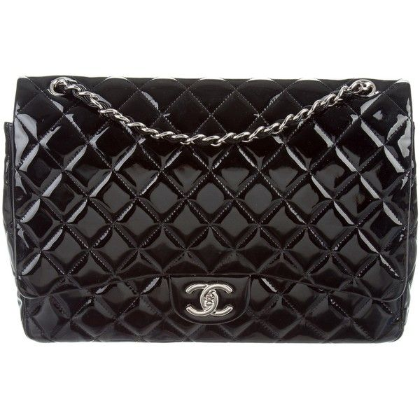 Pre Owned Chanel Classic Maxi Double Flap Bag 4 200 Liked On Polyvore