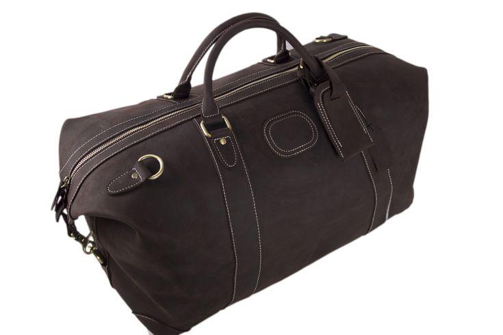 Handmade Vintage Genuine Cowhide Leather Travel Bag / Duffle Bag / Weekender Bag DZ07 - Thumbnail 3