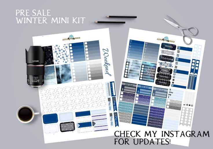 Pre-selling winter kit - Erin condren PRINTABLE by AutumnGraphics on Etsy