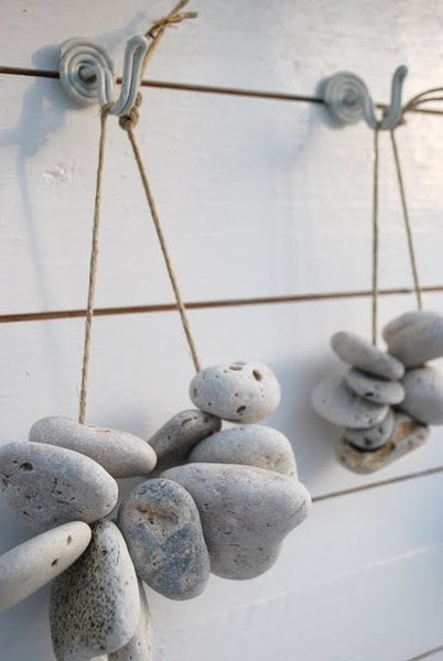 stones with holes... strung