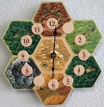 Finally something German! Settlers of Catan clock