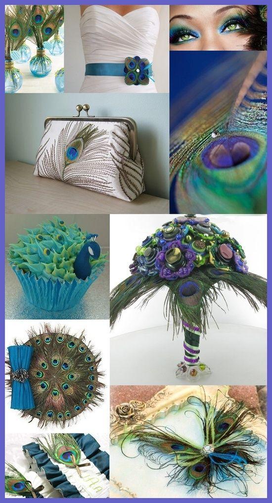 Gorgeous peacock wedding ideas.