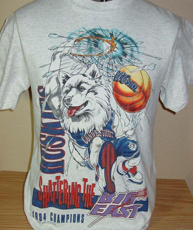 vintage 1994 U Conn Connecticut Huskies basketball t shirt Medium by vintagerhino247 on Etsy