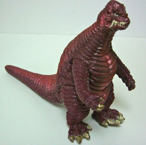 Vintage kaiju monster Powered Red King made by by StyledinJapan,