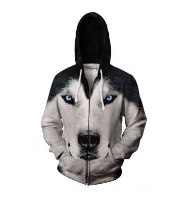 The blue eyes of an arctic wolf are said to paralyse its prey. Does your body feel tense? We could barely move when we were designing this jumper, it's so realistic. Be the alpha in your pack. Get it today. www.bittersweetparis.com