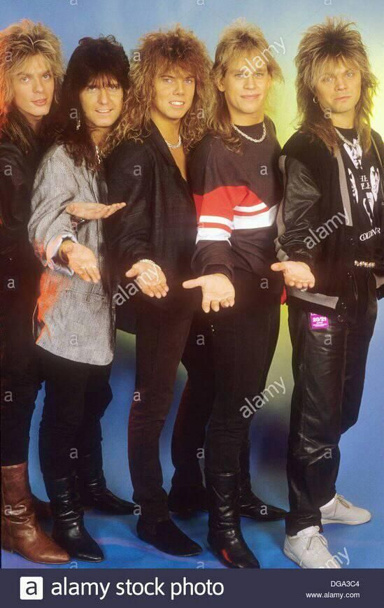 European-Swedish rock group in 1987 with Joey Tempest center  Photo