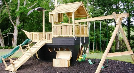 Diy How To Build Pirate Ship Playhouse - WoodWorking ...