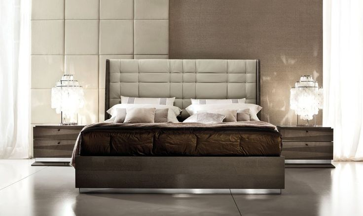 upholstered wall behind headboard in contemporary bedroom