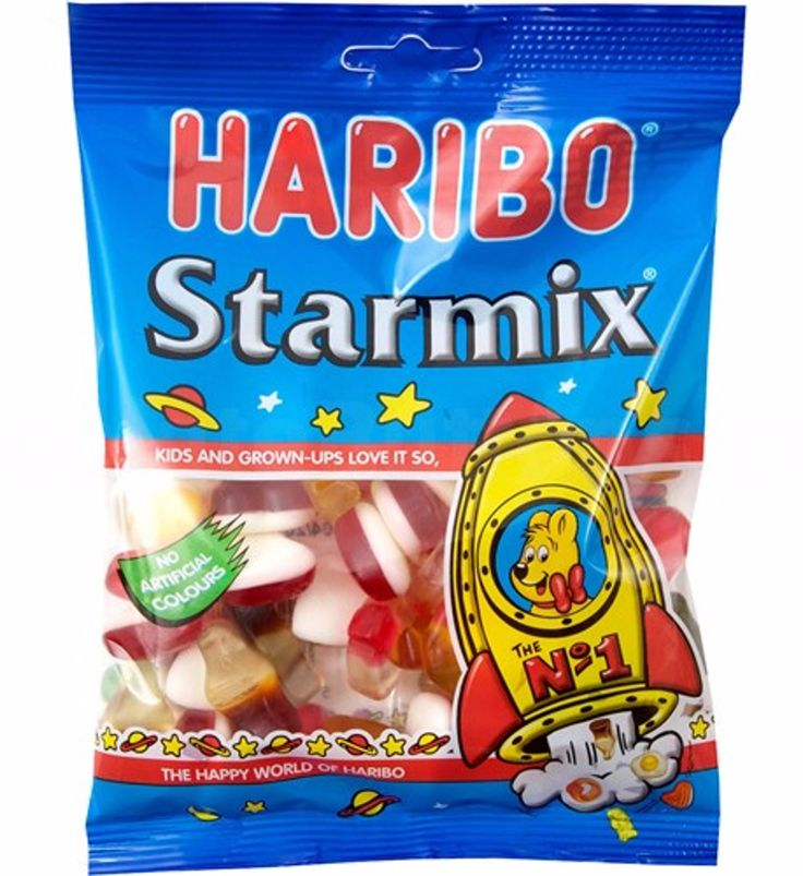 HARIBO STARMIX CANDY SWEETS - this was my favorite snack when I studied abroad in Ireland