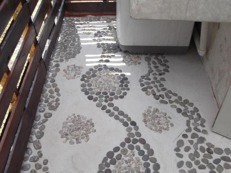 cosa que hemos hecho piso de piedras naturales en casa en tecamac estado de