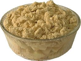 Crumble recipe: how to make/bake/cook apple/fruit crumble and custard
