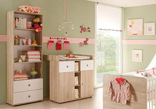 Babyzimmer Komplett Set WIKI 2 In Eiche Sonoma Weiss Babymobel Komplettset