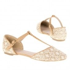 Goudkleurig dames sandalen