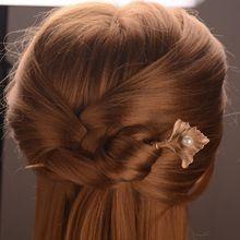 Fosco Folha de Ouro Simulado Pérola Varas Do Cabelo Grampos de cabelo de Jóias Charme Presentes de Casamento Enfeites de Cabelo Menina Acessórios(China (Mainland))