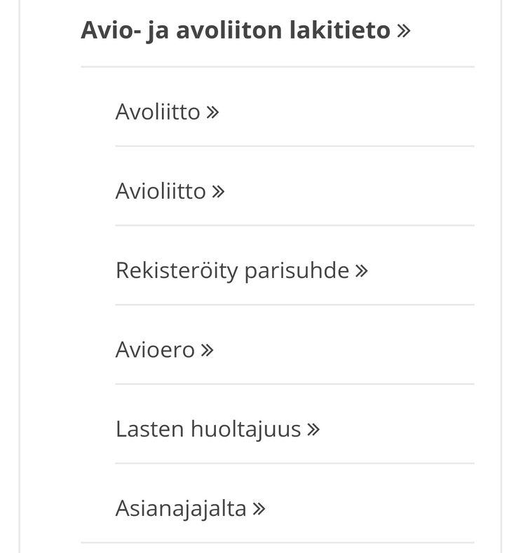 AIHEITA - AVIO- JA AVOLIITON LAKITIEDOSTA