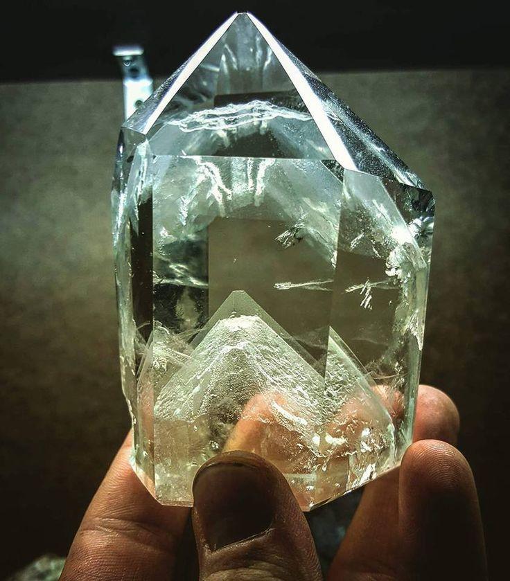 Quartz crystal with phantom -- Minas Gerais, Brazil.