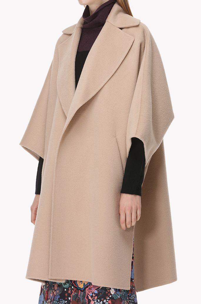 Angora blend oversized coat