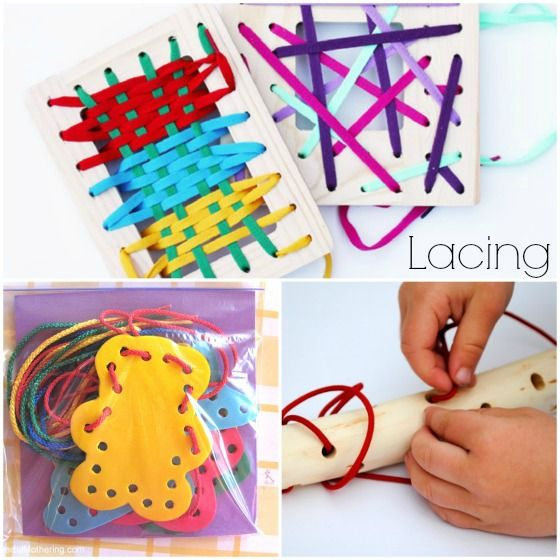 70+ {Awesome} Homemade Toys You Can Make for Your Kids, homemade lacing activities to make for kidsjpg