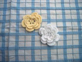 Busy Bessy Creatief: Witte en gele bloem met patroon