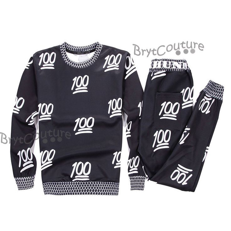 BrytCouture - BrytCouture Limited Edition 100 Emoji Joggers and Sweatshirt - Set., US$89.99 (http://www.brytcouture.com/brytcouture-limited-edition-100-emoji-joggers-and-sweatshirt-set-1/)
