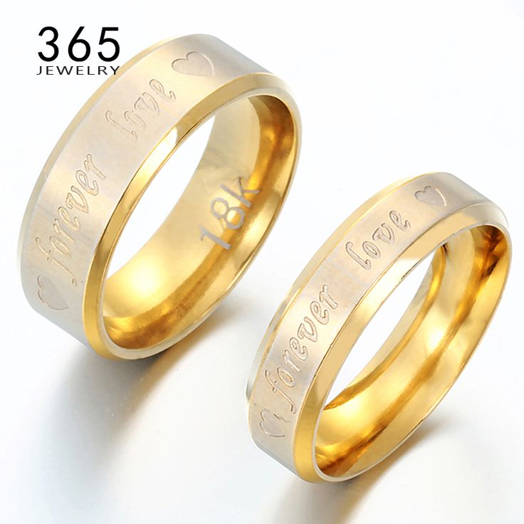 Regalo di san valentino 316l anello in acciaio inox incidere lettera forever love promessa anelli di fidanzamento per le donne degli uomini 1 pezzo