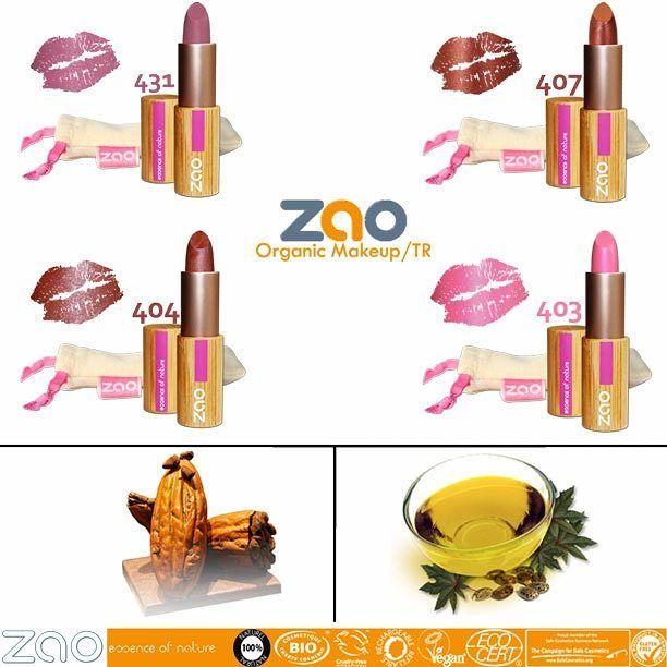 Günaydın :) Dudaklarını sevenler , Zao Organic Makeup 'ın Pearly Lipstick (Parlak Ruj) ürünü ile tanışın ! Dudaklarınız daha sağlıklı ve daha dolgun... Organik Hint Tohumu Yağı ; Hint tohumu içindeki basınç, bu yağın plastikleşmesi ve film oluşturucu özelliklerini sağlayan trigliserid üretir. Hint yağı cilde çok hızlı nüfuz eden ve yağlı bir his bırakmadan ipeksi bir görünüm kazandıran çok zengin (yağ asitlerinin en zenginlerinden biridir) bir maddedir. Nemlendirici ve besleyici…
