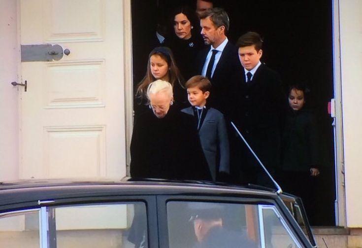 February 15, 2018 ~ The Danish royal family follow Prince Henrik's coffin.  via ✨ @padgram ✨(http://dl.padgram.com)