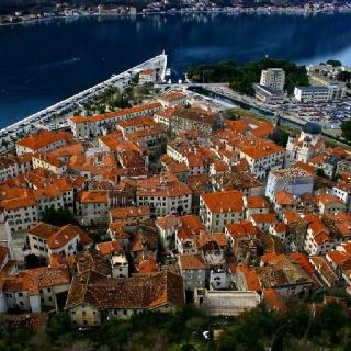 High density fishing village, Kotor, Montenegro