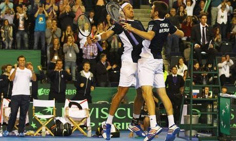Ross Hutchins and Colin Fleming https://id.guardian.co.uk/facebook/signin?returnUrl=http%3A%2F%2Fwww.guardian.co.uk%2Fsport%2F2012%2Ffeb%2F11%2Fgreat-britain-slovakia-davis-cup