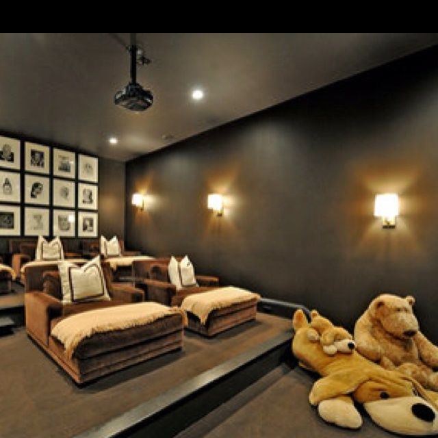 41 best media room ideas images on pinterest - Theatre room furniture ideas ...