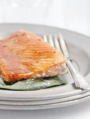 ... Glazed Salmon wtith blood orange juice. #salmon #seafood #easy #recipe