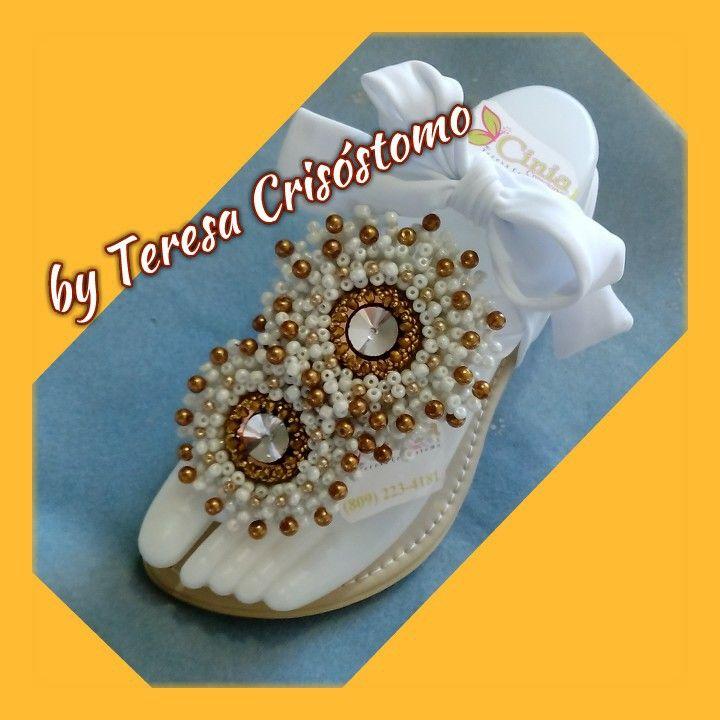 Cristal de Nieve y perlas !!