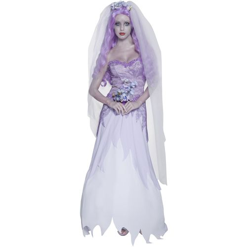 Gothic Manor Ghost Bride Costume, With Dress, Veil and Bouquet. http://www.novelties-direct.co.uk/Gothic-Manor-Ghost-Bride-Costume-With-Dress-Veil-and-Bouquet.html