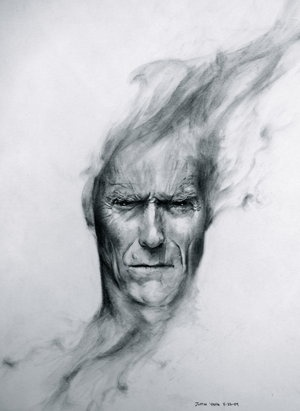 Clint Eastwood: The Artists, The Faces, Desktop Wallpapers, Painting, Hands Drawn, Photo, Popular Pin, Hands Drawings, Clint Eastwood