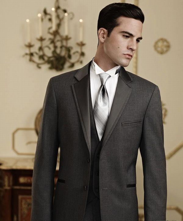 Steel Grey Tuxedo Formally Modern Schaumburg