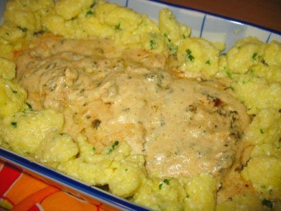 Pileće belo meso sa knedlama od sira - Jela od mesa, Knedle i ćufte, Prilozi