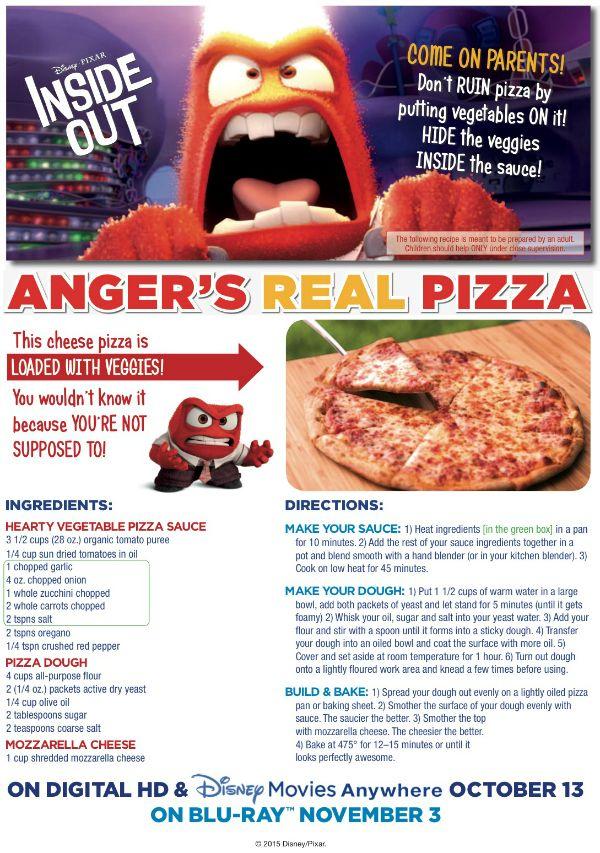 233 best disney foods images on pinterest backen chocolate disney inside out hidden veggies pizza forumfinder Choice Image