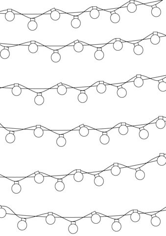 Christmas Lights Pattern coloring page from Christmas ...