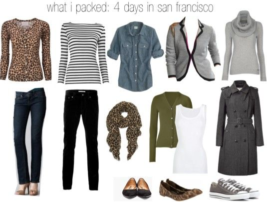 what i packed: 4 days in san francisco