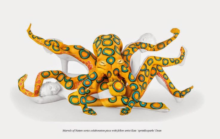You as a Canvas in Body Painting. Emma Fay creates beautiful body paintings coupled with an incredible application. Come and see the video, more information and more images from this Artist, Press the Image.
